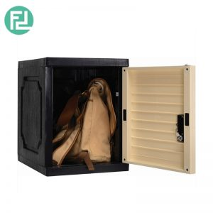 SENTINEL  (L39cm) Cube With Lock- Beech / Grey