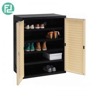 SENTINEL  (L76cm) Shoe Cabinet -  Beech / Grey