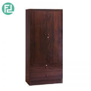 LARCH 2 door wardrobe - 2 drawers with key lock