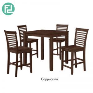 REMEX Dining Set (1+4) - SOLID WOOD