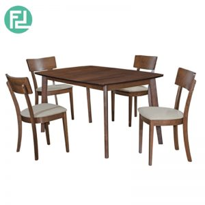 DAVIDMAX Dining Set (1+4) - With Solid Beech