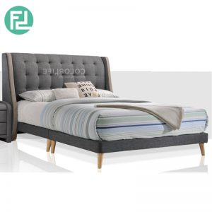 BOULDER Bed Set - 6' - Solid Wood