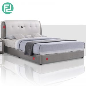 AMERTYPE Bed Set 6'x10' - Solid Wood and PLASTIC LEG