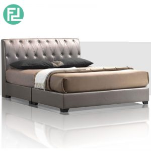 FERENZE Bed Set 6'x8' -Solid Wood and Plastic Leg