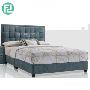 MODENA Bed Set 6'x8' -Solid Wood and Solid Wood Leg