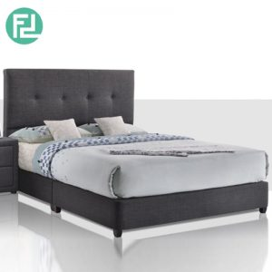 CUNEO Bed Set 6'x8' -Solid Wood and Solid Wood Leg