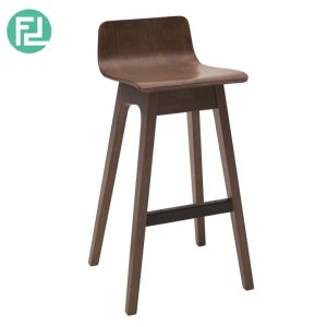 Clearance-AVA low back wooden bar chair barstool-walnut (Last Unit)