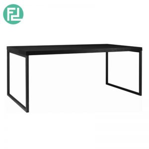 BRENT 1800mm metal leg dining table