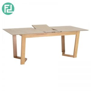 BYRUG Extendable Dining Table 1.6m - Natural, Taupe Grey