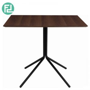 SEMAR Cafe Table In Walnut/Matt Black Colour
