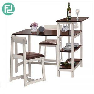 SCRI (134cm) 3pcs Dining-Bar Table Set,2 In 1 Dining Set (1+2)