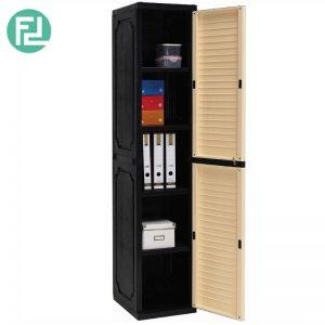 SENTINEL (L38cm) Slim Storage Cabinet - Beech / Grey