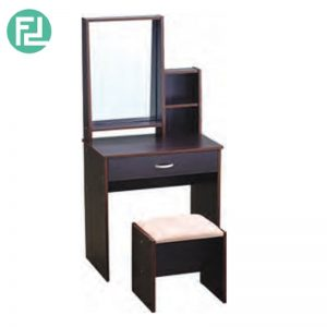 BERRY dressing table with stool - LIGHT CAPPUCCINO