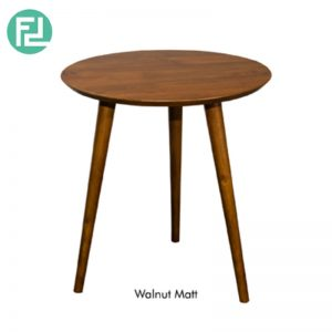 ULLAM End Table - Solid Wood - With Natural / Walnut Colour