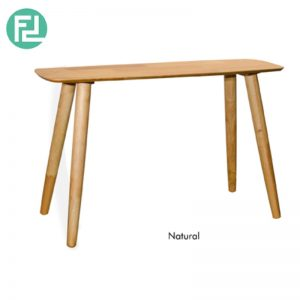ULLAM Console Table- Solid Wood - With Natural / Walnut Colour
