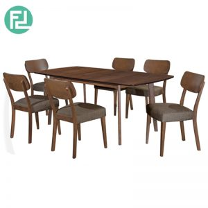 DAVIDMAX Dining Set (1+6)- With Solid Beech