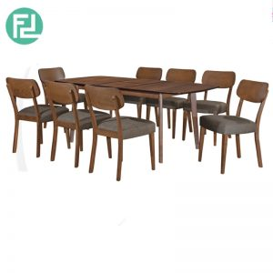 DAVIDMAX Dining Set (1+8)- With Solid Beech