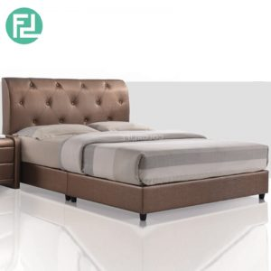 TORINO Bed Set 6'x8' -Solid Wood and Plastic Leg