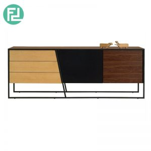 NIDO Sideboard In Walnut/Multi Colour Veneer Door