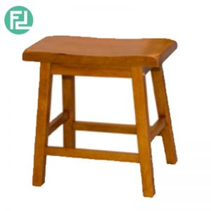 NIFOLI Bar Stool H18″ - Solid Rubber Wood