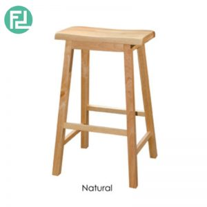NIFOLI Bar Stool H29″ - Solid Rubber Wood