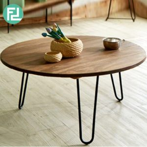 SONIA 900 Round Coffee Table-Natural Colour