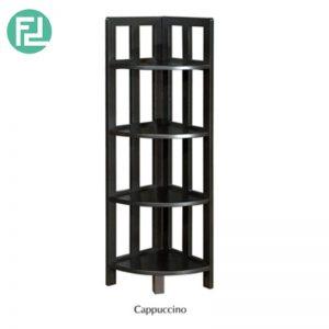 JOLT solid wood corner shelf unit bookcase- 3 colors