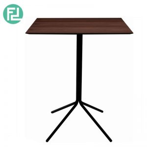 SEMAR Bar Table In Walnut/Matt Black Colour