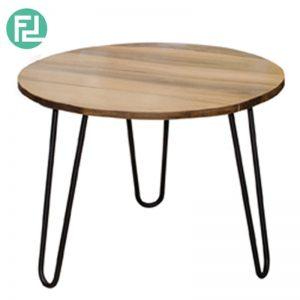 SONIA 600 SQUARE AND ROUND - Coffee Table - Wild Almond Wood