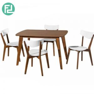 ROLDHA 1200x750MM Dining Set (1+4) with Roldha Dining Table & Roldha Dining Chair