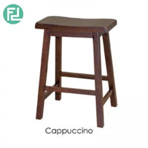 NIFOLI Bar Stool H24″ - Solid Rubber Wood