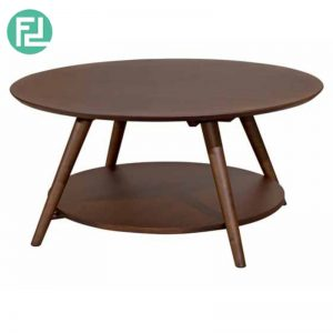 SOHO 900 Round Coffee Table - Walnut Matt / Natural