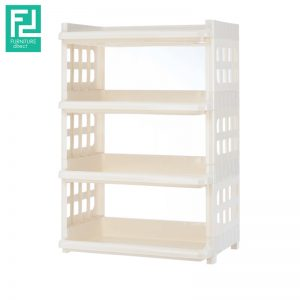 Century 515-4 tier plastic rack- white