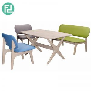 SENEPA DINING SET - 2-Seater (123.5cm) Bench - 1-Seater (61.5cm) Chair