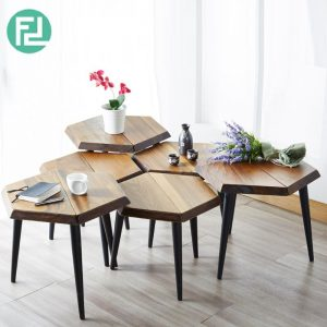 SUPERHONEY Coffee Table + Side Table (For 3 Set)