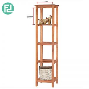 RAMPO (H184cm) Display Cabinet-Fully solid rubber wood