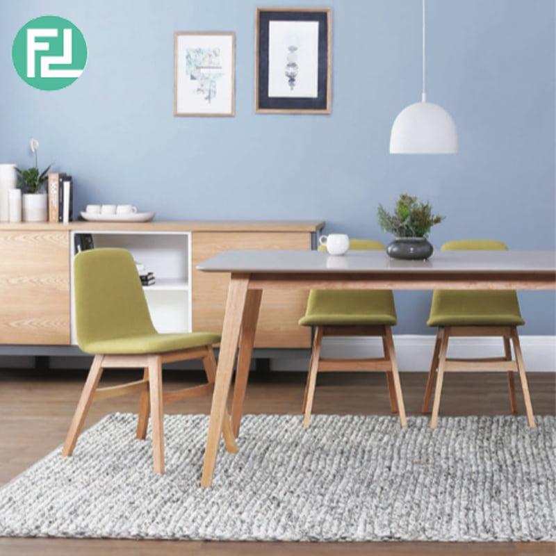 Alton 4 Seater Fabric Dining Set Green
