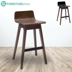AVA low back wooden bar chair barstool-2 colors