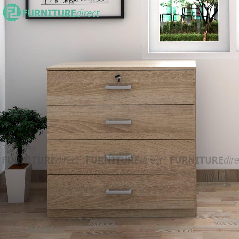 Bardon 4 Drawer Chest With Key Lock Oak Furnituredirect Com My