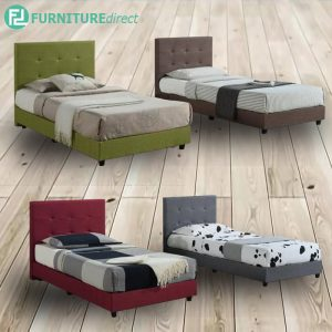 BEKKER linen fabric divan single bed frame-4 colors