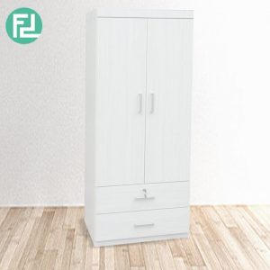 CORONA 2 Door 2 Drawer Wardrobe - Full white