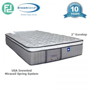 "DREAMLAND Chiro Essential 10"" Eurotop super single size miracoil spring mattress"