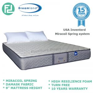 "DREAMLAND Chiro Essential IV 9"" queen size miracoil spring mattress"