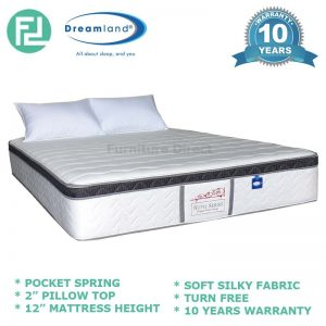 "DREAMLAND 12"" hotel series pocket spring mattress-King"