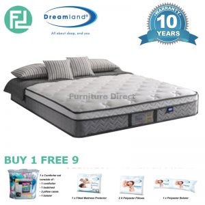 "DREAMLAND 12"" king size miracoil hotel PREMIUM spring mattress"