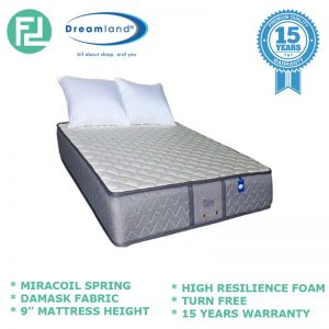 "DREAMLAND Chiro Essential IV 9"" single size miracoil spring mattress"