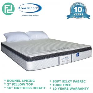 "DREAMLAND 10"" hotel series Eurotop bonnel spring mattress-Queen Size"