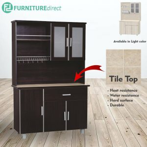 FRED high kitchen cabinet big size- L.Cappuccino