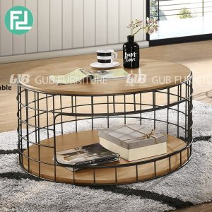 MICA industrial style coffee table-2 colors