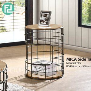 MICA industrial style side table-2 colors